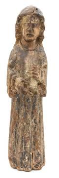 A Northern European Polychrome Decorated Figure of Saint Birgitta