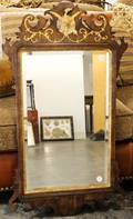 A Chippendale Style Parcel Gilt Mahogany Mirror