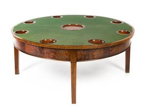 A George III Mahogany FlipTop Low Game Table
