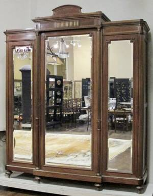 French Louis XVI Style Triple Armoire