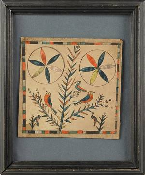 Southeastern Pennsylvania ink and watercolor fraktur early 19th c