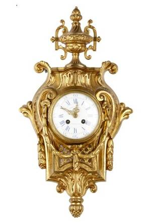 Comptoir General Gilt Bronze Cartel Clock 19th C