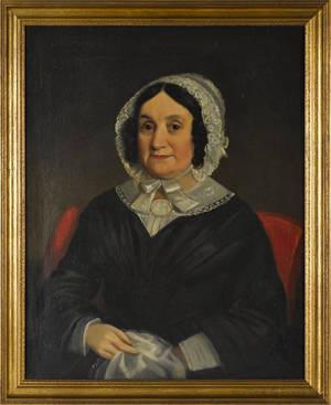 American oil portrait of a woman