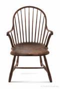 Philadelphia bowback Windsor armchair ca 1800