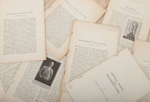 Group of Eight Pamphlets and One Corrected Essay