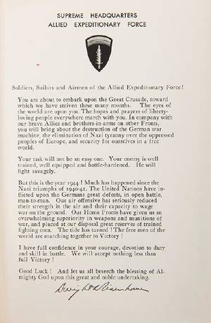 WWII Eisenhower Dwight D Crusade in Europe