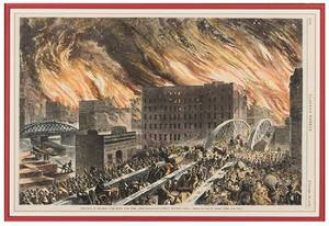 Great Chicago Fire A Group of Five Depictions of the