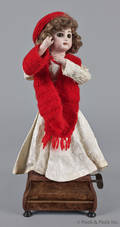 French Tete Jumeau bisque doll musical automaton