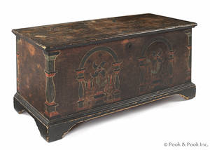 Berks County Pennsylvania painted pine dower chest ca 1800