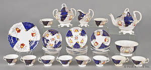 Gaudy Welsh tea service