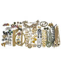 Collection of colorful costume jewelry incl designer