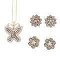 Champagne  white diamond  gold jewelry
