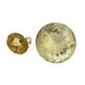 Unmounted citrine  citrine rose gold ring