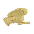 Yellow gold sphinx brooch