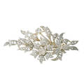 Diamond  white gold bouquet brooch
