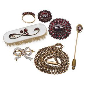 Antique diamond or gem set jewelry  accessories