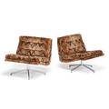 Pair of milo baughman style lounge chairs
