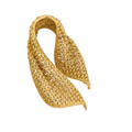 Mauboussin paris woven yellow gold brooch