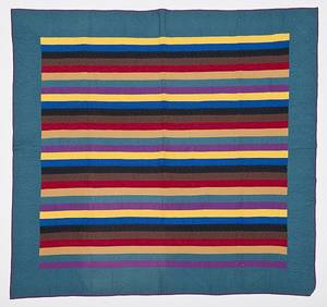 Pennsylvania rainbow bar quilt 20th c