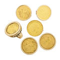 Collection of edward vii gold coin jewelry