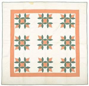 Pennsylvania floral appliqu quilt early 20th c