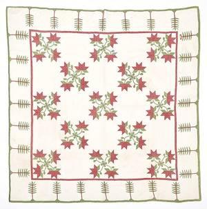 Pennsylvania floral appliqu quilt 19th c