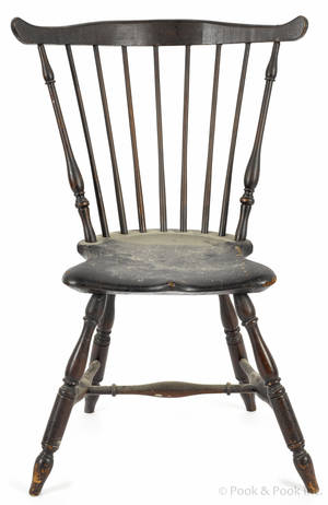Fanback Windsor chair with goat feet