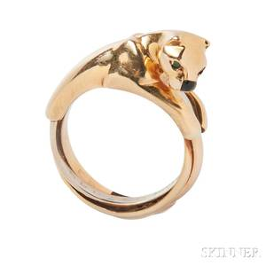 18kt Gold Panther Ring Cartier
