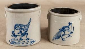 Twogallon stoneware crock 19th c