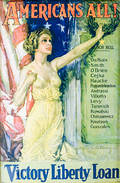 Framed Howard Chandler Christy Americans All Victory Liberty Loan Poster