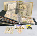 Large Group of Victorian Trade Cards Scraps Diecuts and Holiday Cards