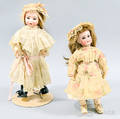 Kammer  ReinhardtSimon  Halbig Open Mouth Bisque Doll and a Beltontype Bisque Doll