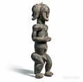 Fangstyle Byeri Threeface Reliquary Figure