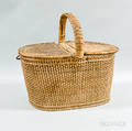 Woven Splint Handled Basket