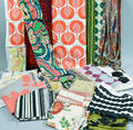 Large Group of Floral and Geometric Printed Textiles