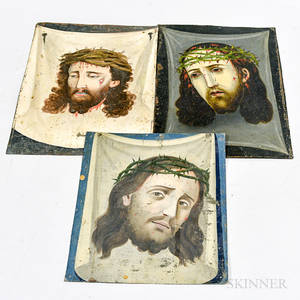 Three Painted Tin Retablos of Christ