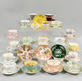 Fortyfour Porcelain Cups and Saucers
