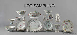 Assembled set of Chinese export famille rose porcelain dinner service late 18th c