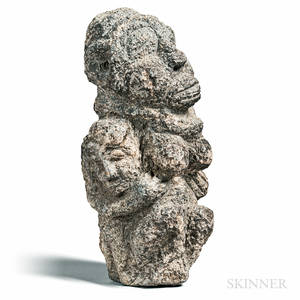 Mendestyle Carved Stone Fertility Sculpture