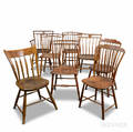 Seven Rodback Windsor Chairs and an Arrowback Windsor Chair