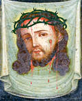 Large Painted Tin Retablo of Christ