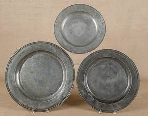 English pewter charger ca 1700