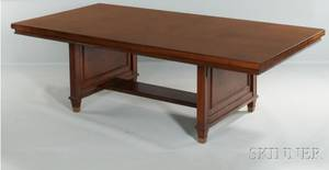 Large Walnut Library Table
