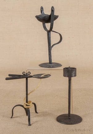English wrought iron wax jack ca 1720