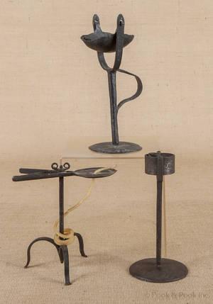 English wrought iron wax jack ca 1720