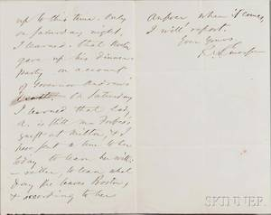 Emerson Ralph Waldo 18031882 Autograph Letter Signed 4 November nd 1867
