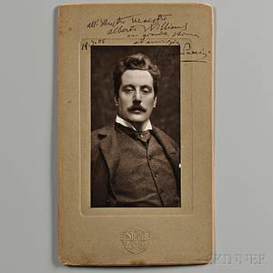 Puccini Giacomo 18581924 Signed Photograph 19 July 1905