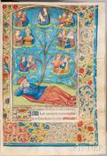 Book of Hours Use of Rouen Illuminated Latin Manuscript on Parchment