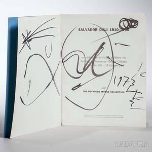 Dali Salvador 19041989 Exhibition Catalog Signed Copy