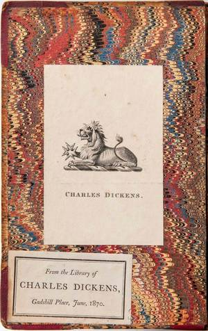 Dickens Charles 18121870 A Christmas Carol Charles Dickenss Copy with his Bookplate
